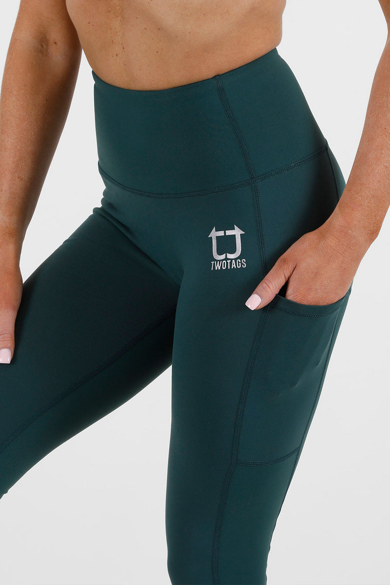 Balance Highwaisted Leggings - Emerald