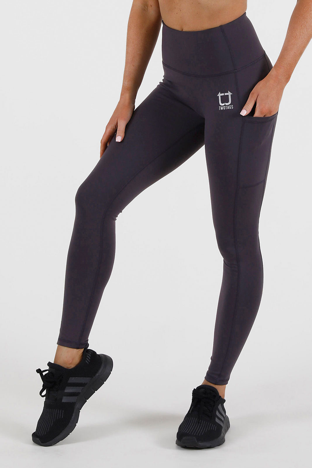 Balance Highwaisted Leggings - Plum