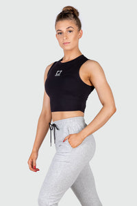Basic Bae Cropped Tank - Black