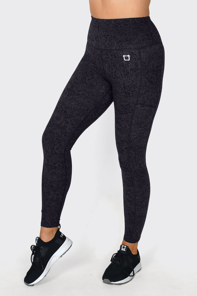 Bloom Highwaisted Leggings - Black