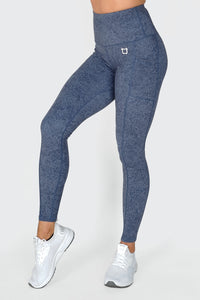 Bloom Highwaisted Leggings - Cobalt Blue