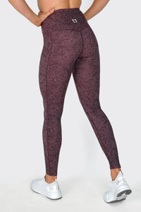 Bloom Highwaisted Leggings - Wine