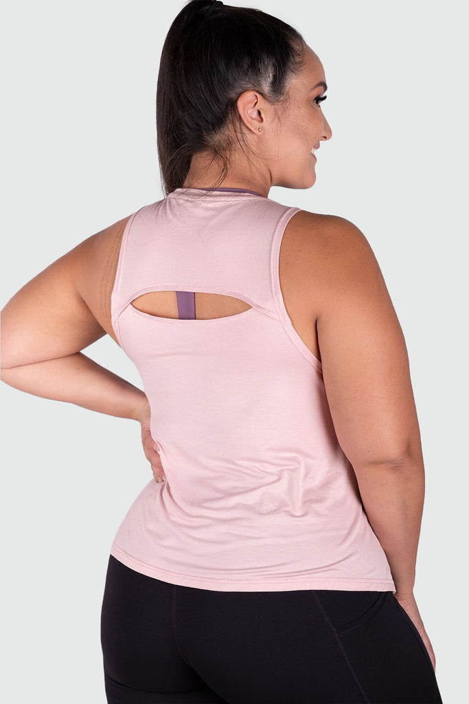 Twotags Ladies Breezi Tank – Dusty Pink