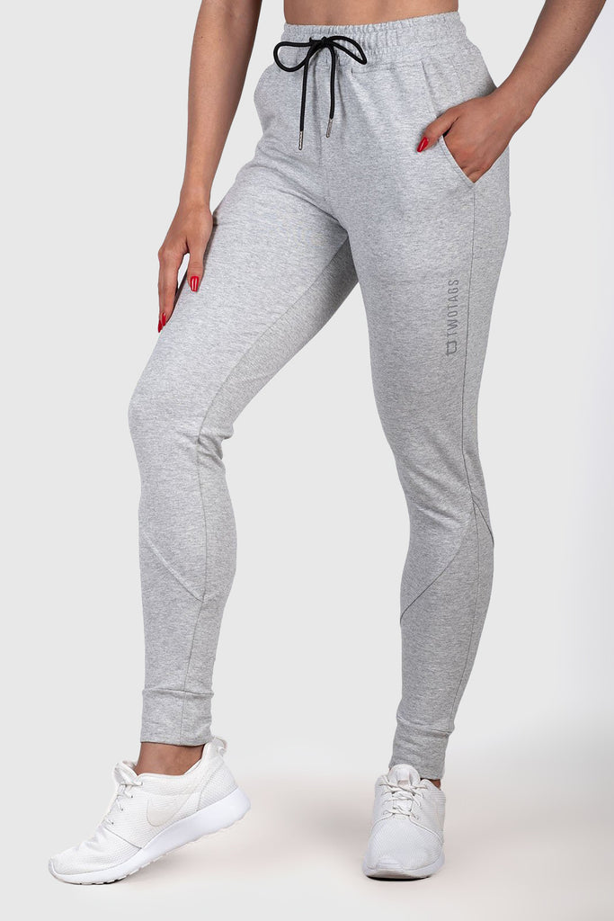 Twotags Ladies Highwaisted Chill Jogger – Heather Grey