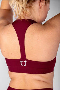 Classic Sports Bras - Burgundy