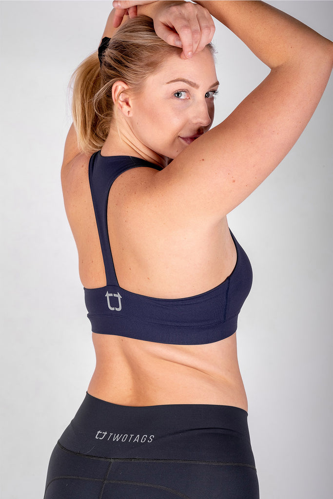 Classic Sports Bras - Navy Blue