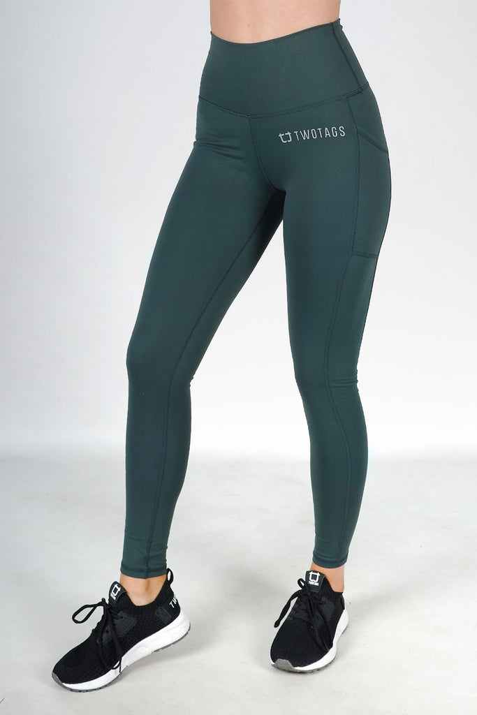 Core V2 Highwaisted Leggings - Emerald