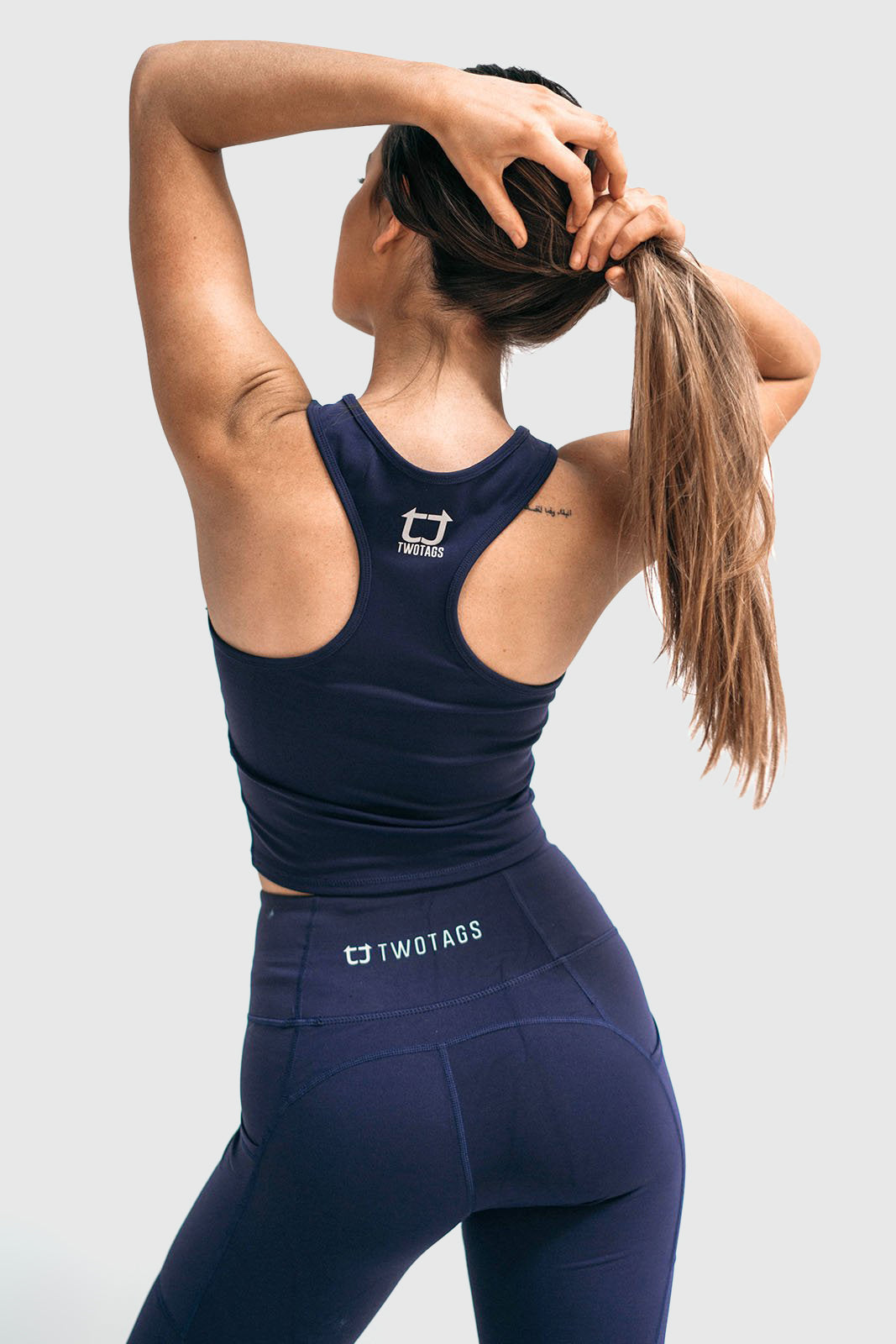 Twotags Ladies Classic Core Racerback Tank – Navy
