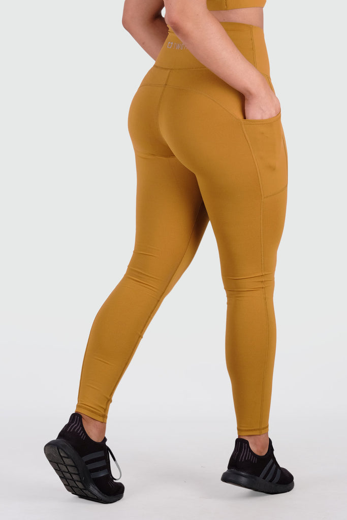 Core V2 Highwaisted Leggings - Mustard