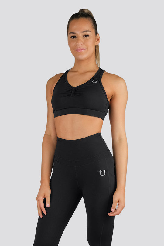 Soul Scrunch Sports Bras - Black