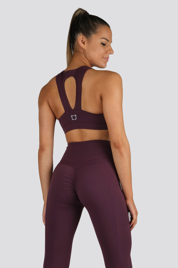 Soul Scrunch Sports Bras - Wine