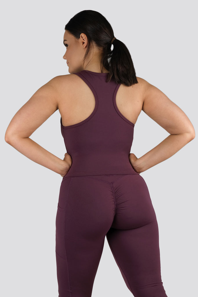 Soul Scrunch 2 in 1 Singlet - Wine