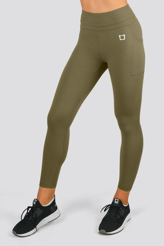 Elysian 8/9 Highwaisted Leggings - Khaki