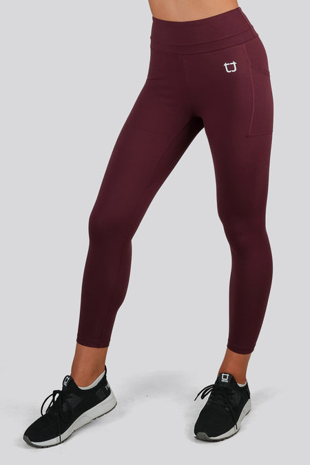 Sweetheart 7/8 Highwaisted Leggings - Maroon