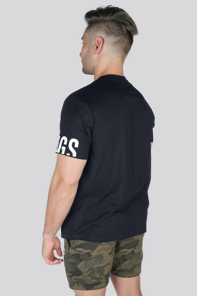 Grafik T-shirt - Black