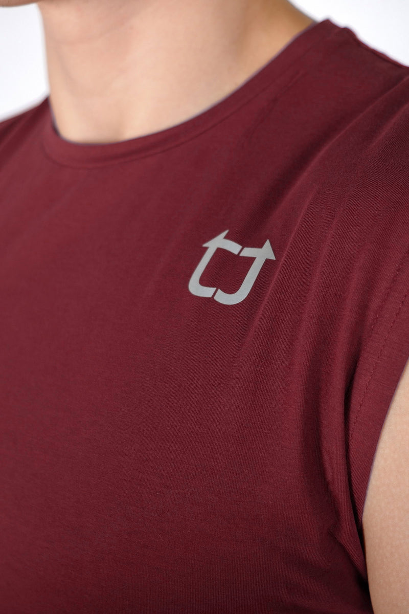 Damage Muscle Tank - Maroon
