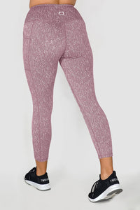Deluxe 8/9 Highwaisted Leggings - Maroon