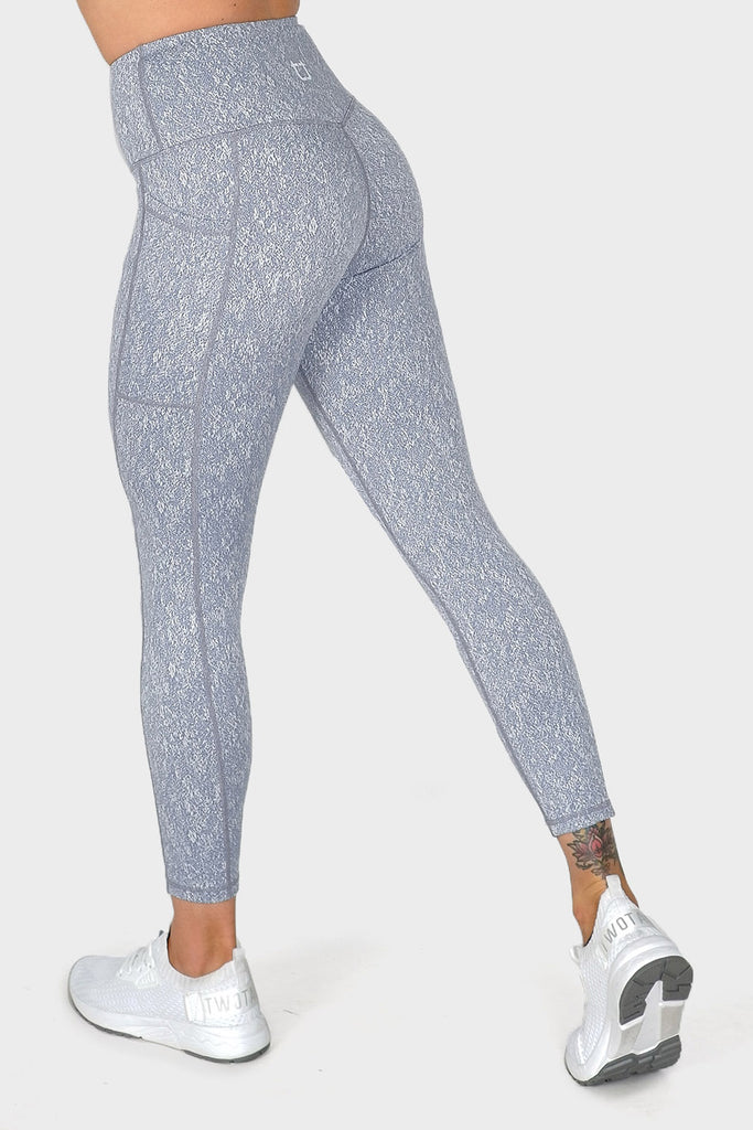 Deluxe Highwaisted Leggings - Sky