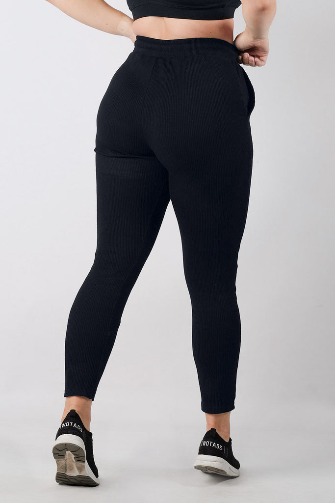 Dream Lounge Highwaisted Jogger - Black