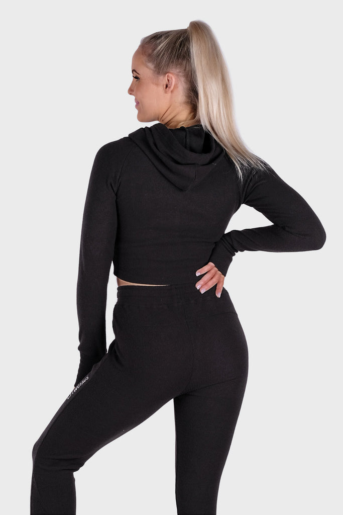 Dream Cropped Hoodie - Black