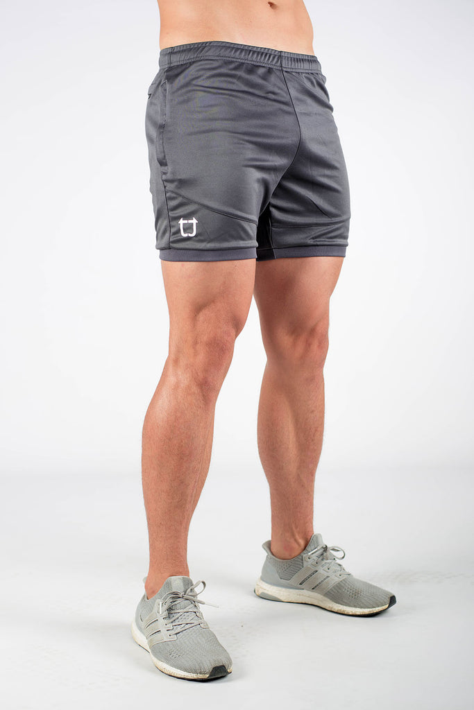 a1324ef8e Twotags Dry Active Shorts - Charcoal Grey
