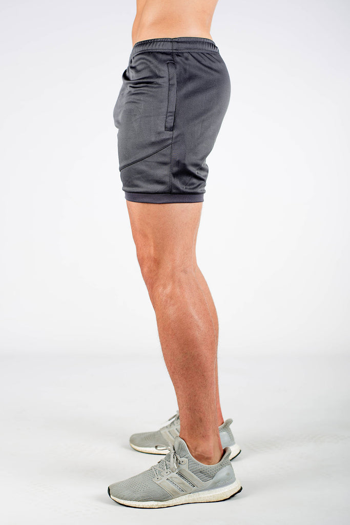 Twotags Dry Active Shorts - Charcoal Grey