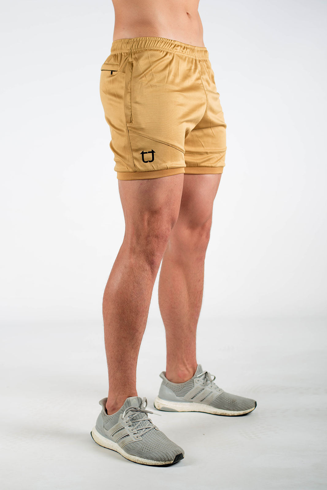 Twotags Dry Active Shorts - Coyote Tan