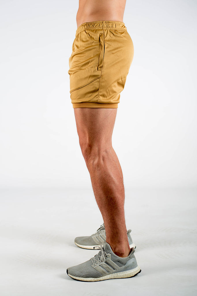 Dry Active Shorts - Coyote Tan