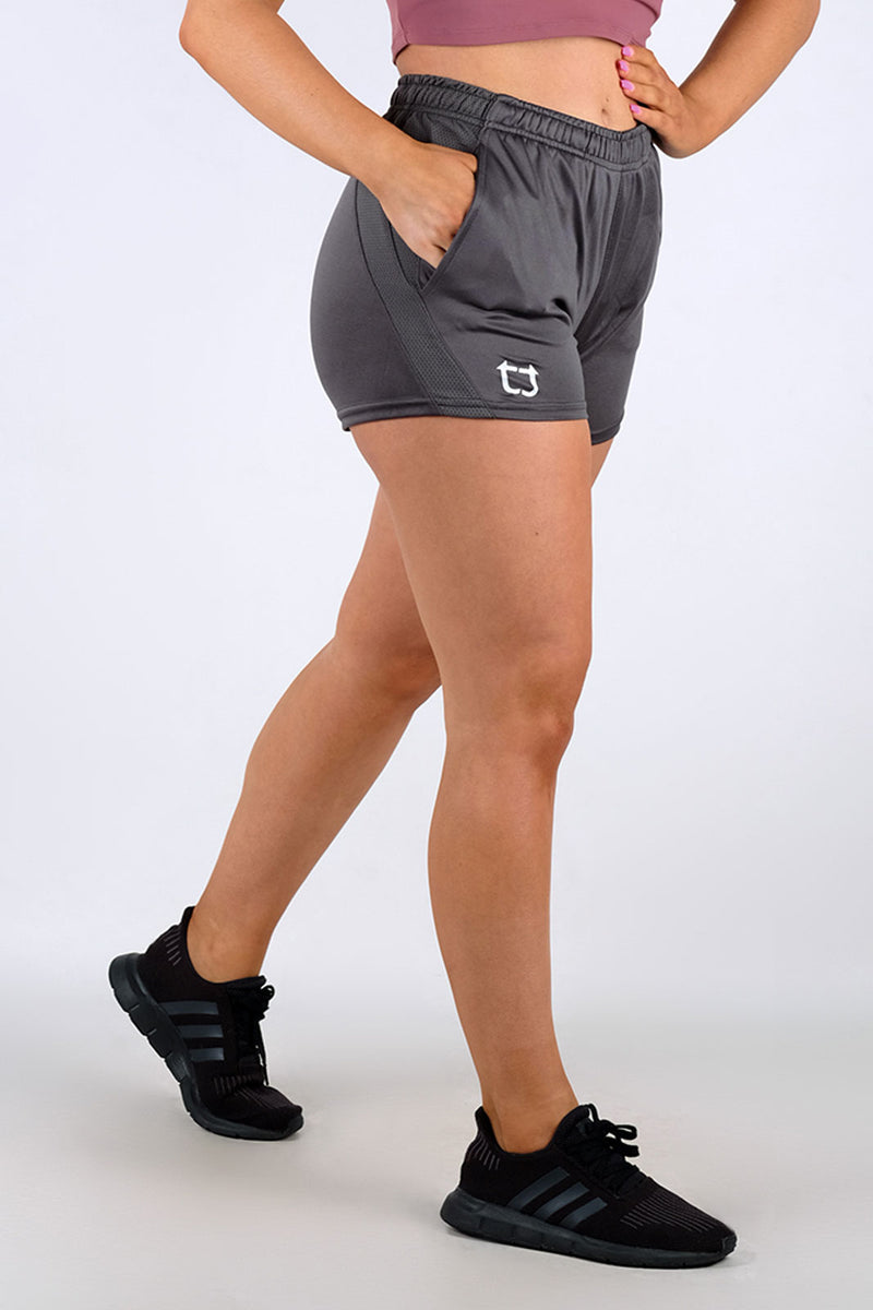 Ladies Dry Sweat Shorts - Charcoal Grey