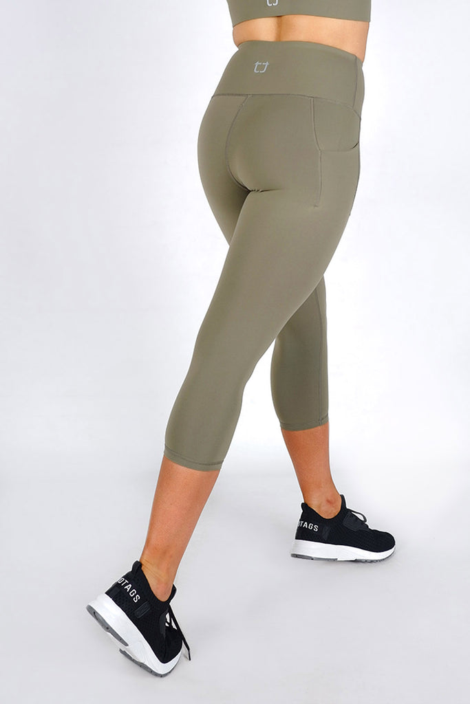 Essential 7/8 Highwaisted Leggings - Olive