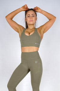 Essential Sports Bras - Olive