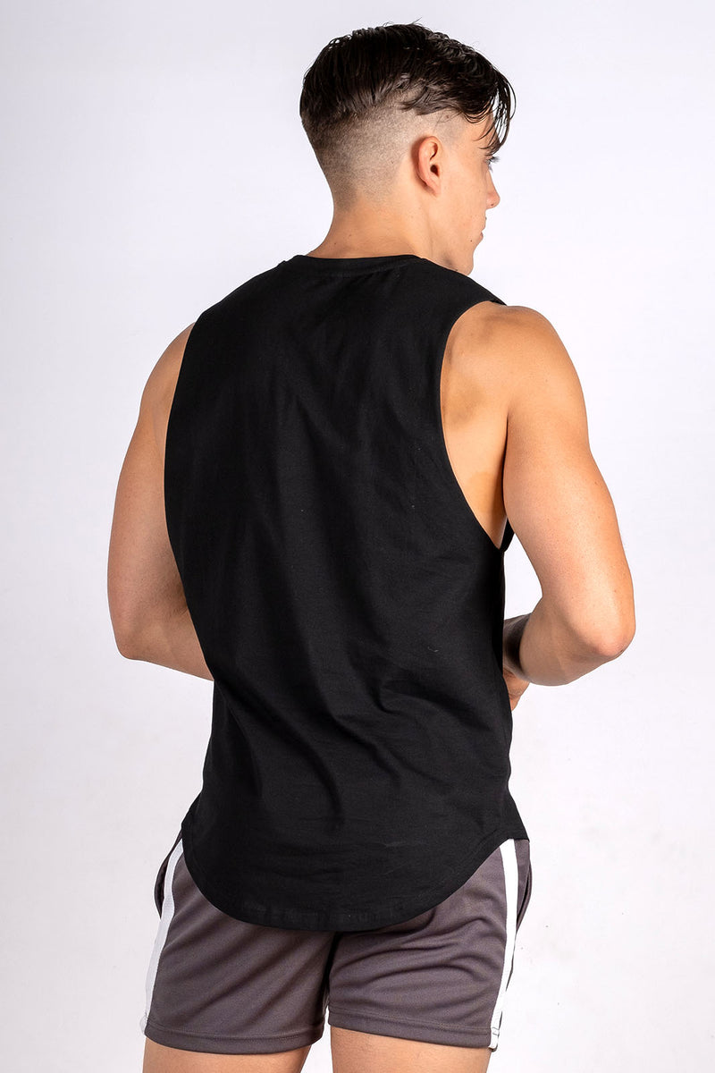 Twotags Intrepid Muscle Tank - Black