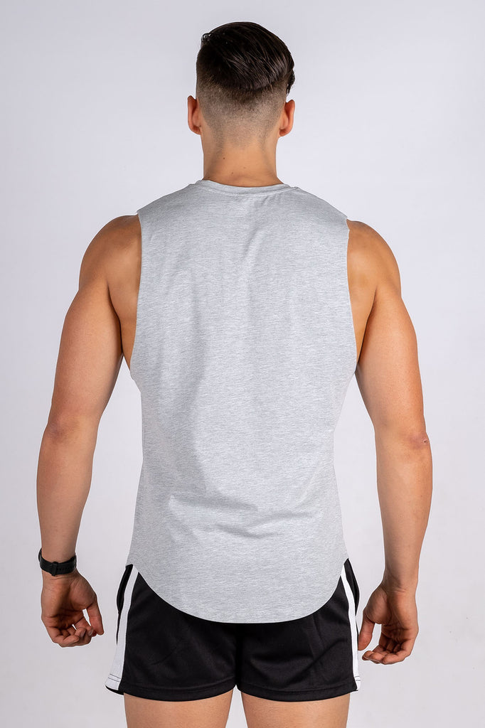 Twotags Intrepid Muscle Tank- Heather Grey