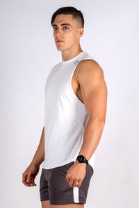 Intrepid Muscle Tank - White