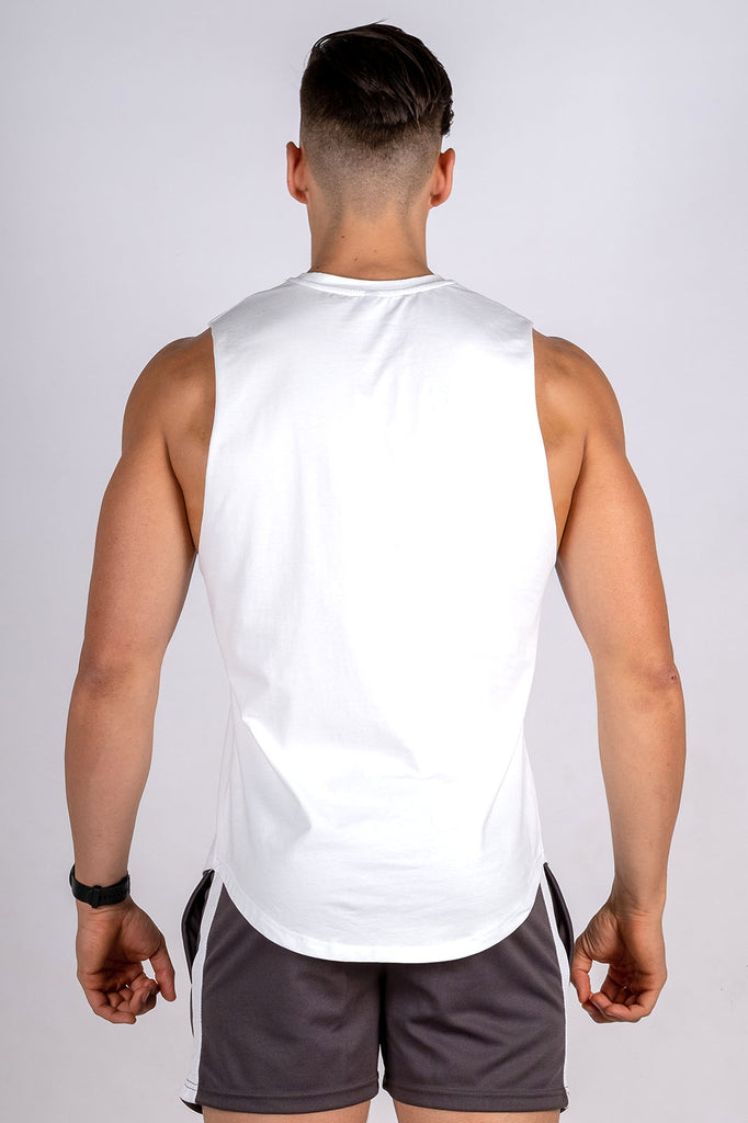 Twotags Intrepid Muscle Tank- White