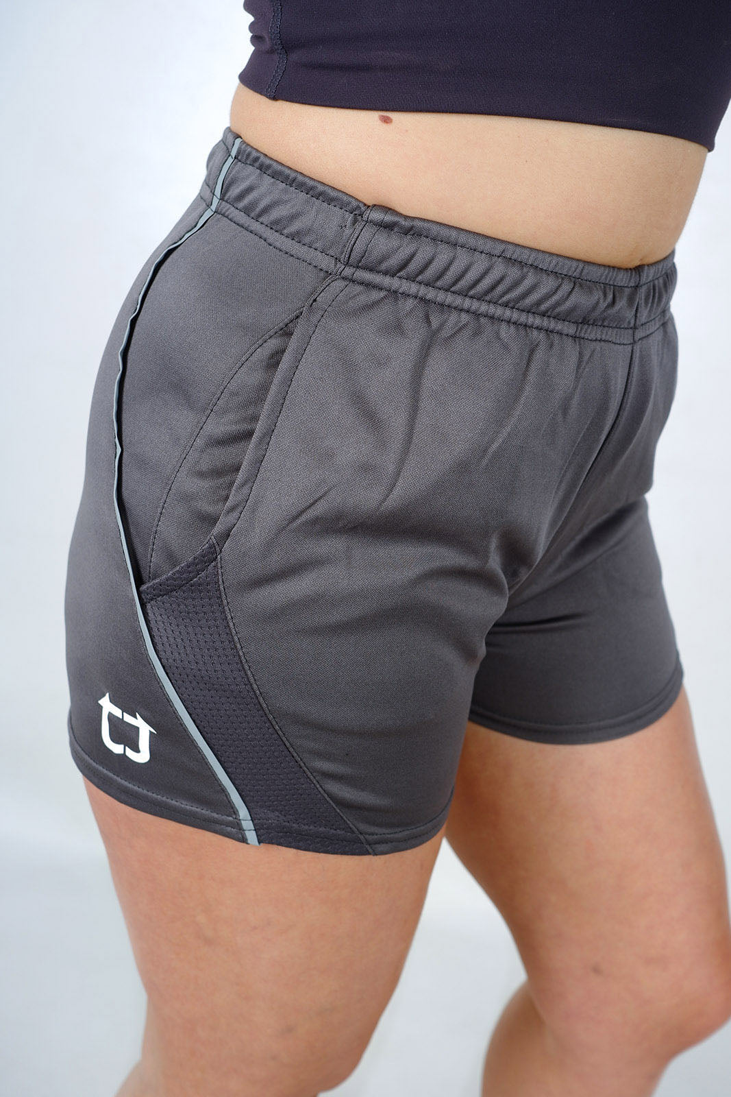 Ladies Dry Sweat V2 Shorts - Charcoal Grey