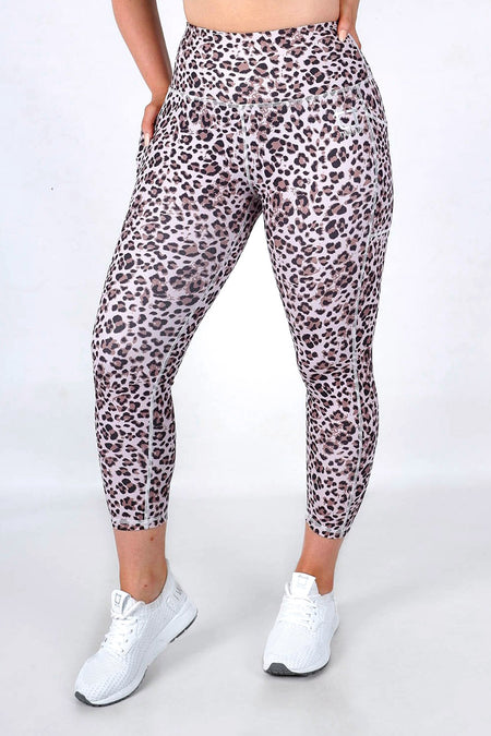 Leopard 8/9 Highwaisted Leggings - Gold Leopard