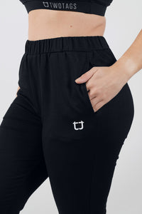 Luna Highwaisted Jogger -Black