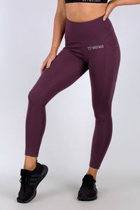 Luxe 8/9 Highwaisted Leggings - Maroon