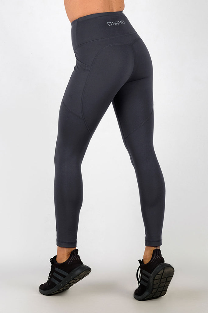 Luxe 8/9 Highwaisted Leggings - Anthracite Grey