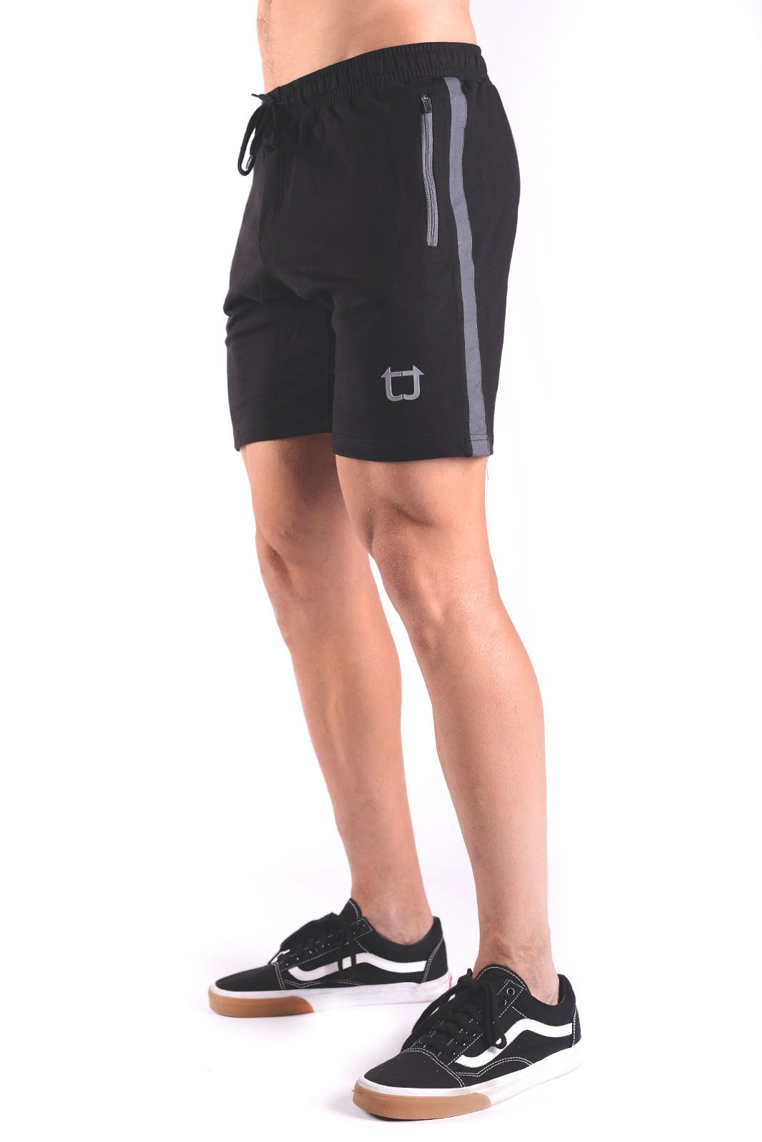 Rove Panel Sweat Shorts - Black