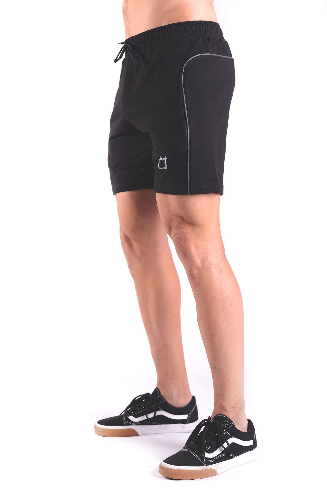 Rove Trim Sweat Shorts - Black