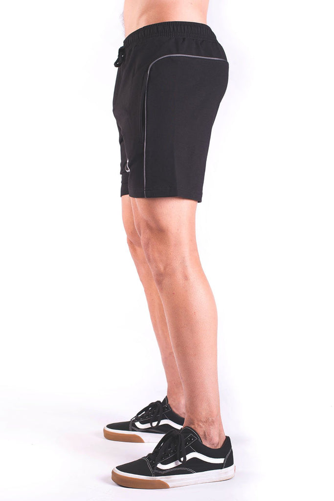 Twotags Rove Trim Sweat Shorts - Black