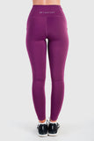 Twotags Ladies Highwaisted Stride Mesh Leggings – Aubergine