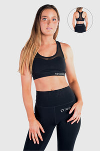 Stride Mesh Sports Bras - Black