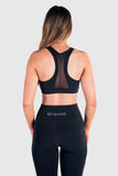 Twotags Ladies Stride Mesh Sports Bras – Black