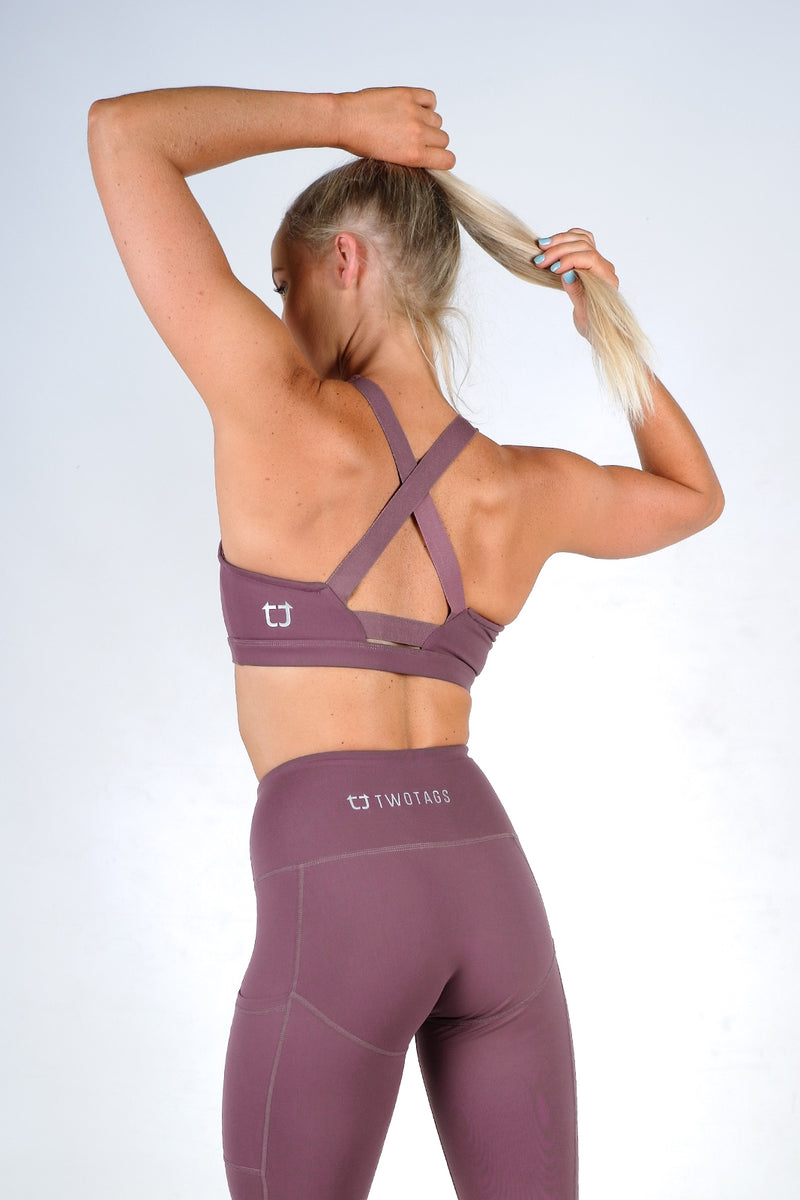 Scope Sports Bra - Grape