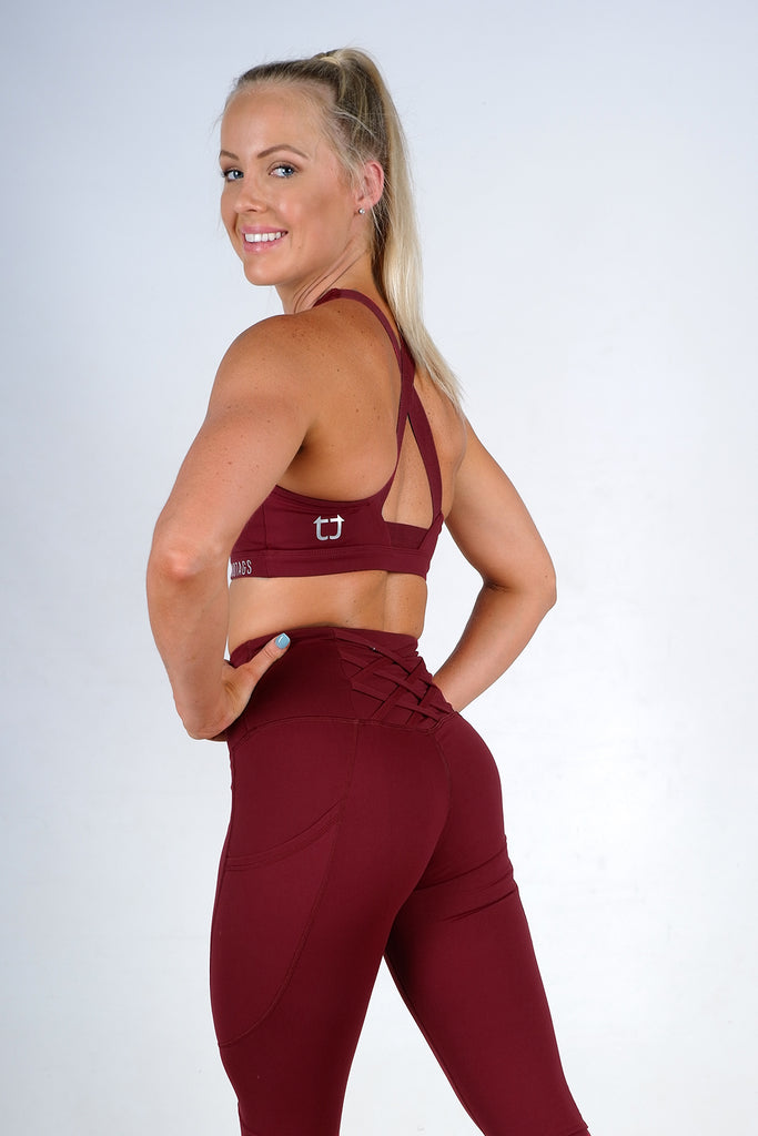 Scope Sports Bra - Burgundy