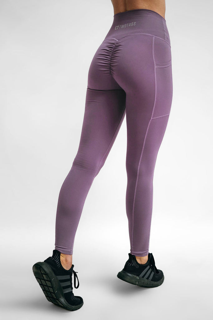 Twotags Ladies Highwaisted Scrunch Leggings – Lavender