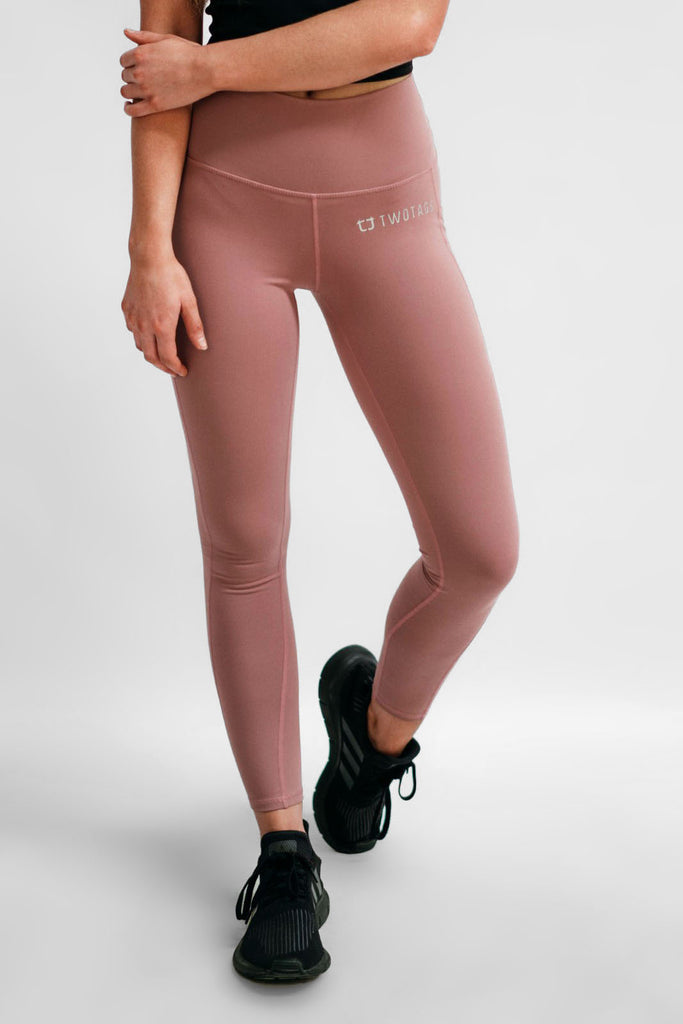 Twotags Ladies Highwaisted Scrunch Leggings – Mauve